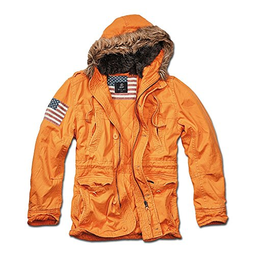 Jacke Brandit Vintage Explorer Stars and Stripes orange Orange
