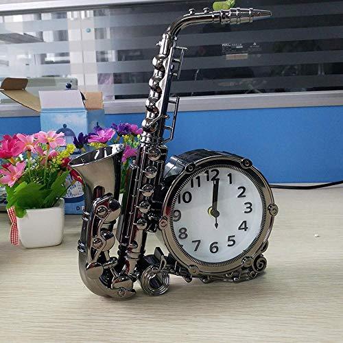 Sweety Kaminuhr Saxophon Modellierung Desktop-Uhr nach Hause Schlafzimmer Bett Uhr Ornamente 26 * 19cm