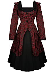 Hearts & Roses London Gótico Victoriano 1950s Romántico Vestido De Graduación y Chaqueta Excelente Calidad