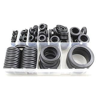 Kabel Verkabelung Tüllen Gummi * offen * Sortiert Box–130teilig 6mm–50mm