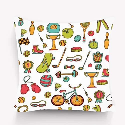zexuandiy Kissenbezüge Throw Pillow Cushion Cover,Artful Modern Illustration,18