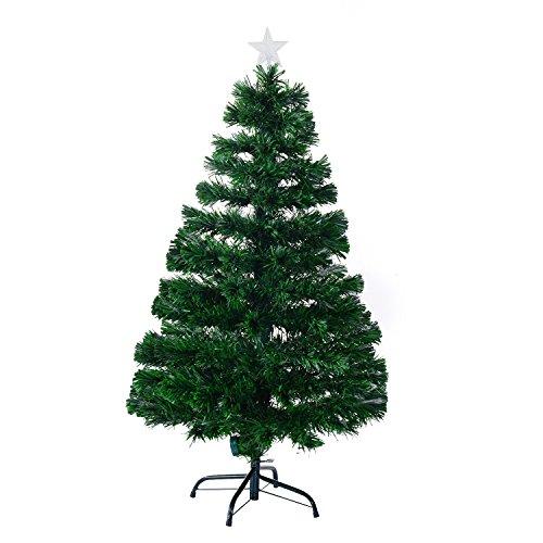 Árbol de Navidad Pino Abeto 120 cm Fibra Optica Multicolor INCLUYE Soporte...