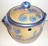Zwiebeltopf aus Keramik braun-blau Inhalt: 1/2 ltr.