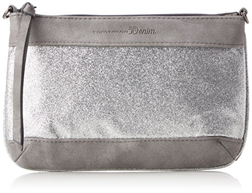 Tom Tailor Denim Damen Tilda Clutch, Silber (Silber), 1x15.5x24 cm (Clutch Damen)