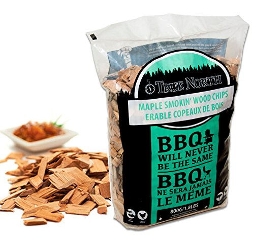 Canadian Pure and Simple MAPLE smoking/smoker wood chips - for Smokers, BBQ's, Ovens, Smoking tins : 800g