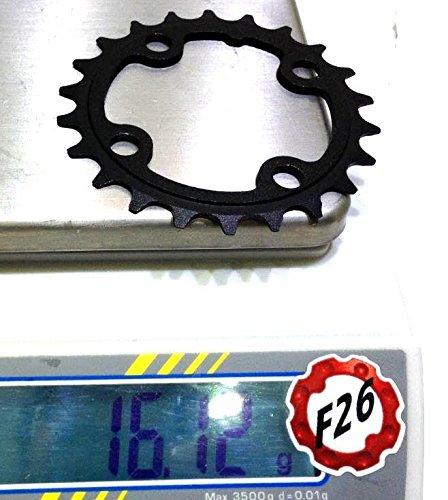 Aerozine Unisex MTB 22T Kettenblatt, schwarz, Größe 64