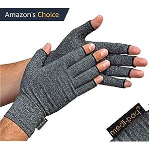 Medipaq –  Anti-Arthritis Handschuhe (Paar) – bieten Wärme und üben Druck aus um die Blutzirkulation zu erhöhen, Schmerz zu reduzieren und die Heilung zu fördern – Groß