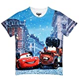 #10: Cars Multicolor Polyester Tshirt For Boys