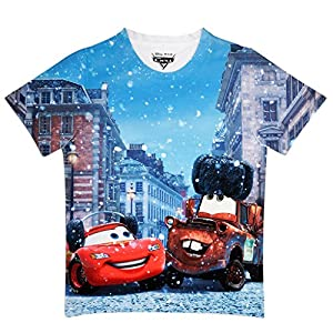 Cars Boy's Polyester T-Shirt