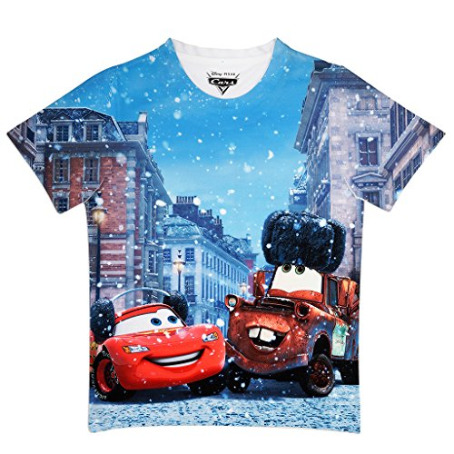 Cars Multicolor Polyester Tshirt For Boys