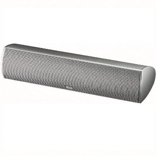 Magnat Needle Alu Super Center | schlanker Design-Center mit gebürsteter Aluminium-Oberfläche | max. Sprachverständlichkeit im Heimkino | max. 100 Watt - silber