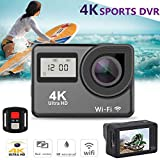ZYSMC Premium-Beststock Sports Camera WiFi Outdoor HD Wasserdichte Bewegungskamera 4K Pet Kamera