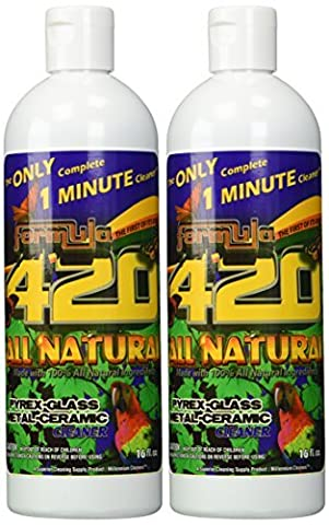 ALL NATURAL Formula 420 pirex-glass metal-ceramic cleaner, 2 Bottles, 16 Ounces Each by Formula 409