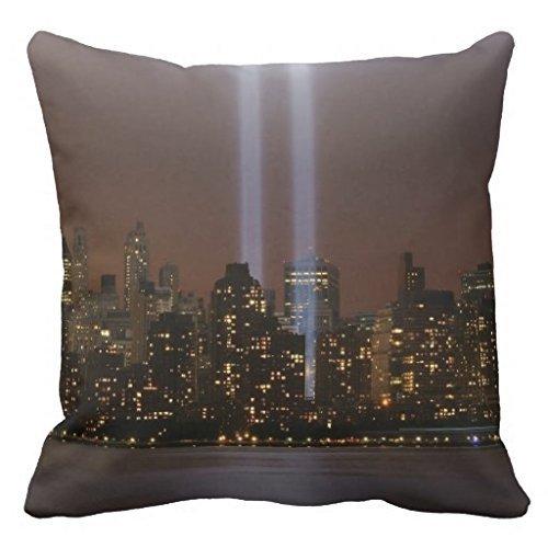 FAFANIQ Fashion Decorative World Trade Center Tribute In Light In New York Throw 18 * 18 Pillow Case