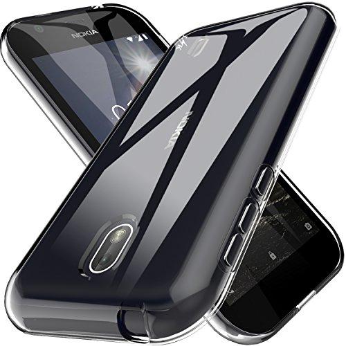 Galleria fotografica Custodia Nokia 1 Cover, LK Case in Morbido Silicone di Gel Antigraffio in TPU Ultra [Slim Thin] Cover Protettiva - Trasparente