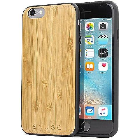 Funda iPhone 6 / 6s, Carcasa Snugg Anti-Impactos para Apple iPhone 6 / 6s [Madera Genuina] Ultrafina Revestimiento de TPU - Bambú