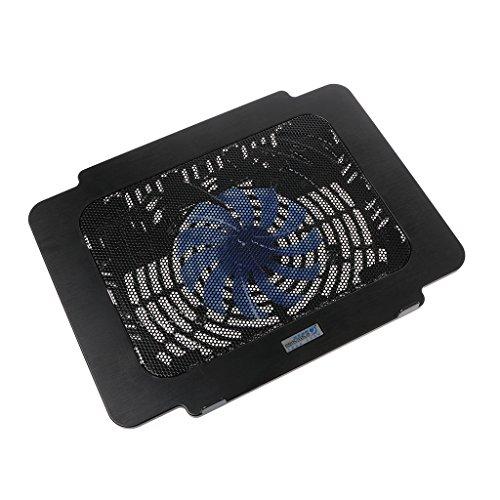 Yintiod Laptop-Kühler Cooling Pad Base Big Fan USB-Ständer für 14-Zoll-LED-Licht Notebook