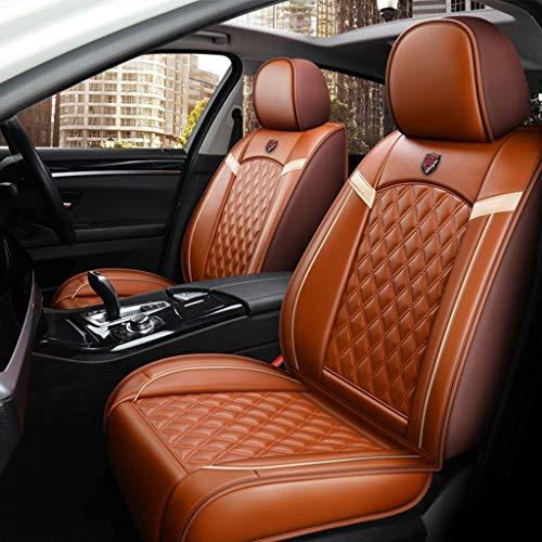 versal Set,Leder Sitzkissen für die Vordersitze und Rückbank Sitzauflagen Sitzschutz (Color : Orange) ()