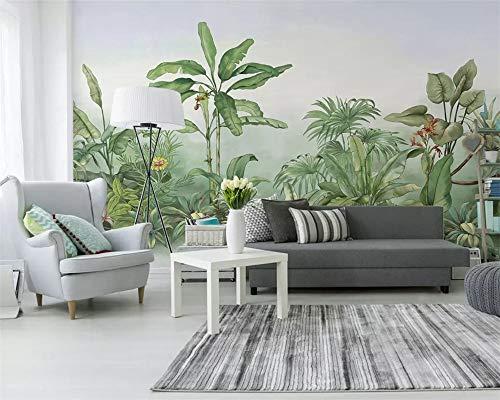 CHENYAN Wallpaper Hintergrundbild Benutzerdefinierte Fototapete 3D Große Wandmalerei Wand Stick 3D Handgemalte Pflanze Bananenstaude Moderne Tv Wall 3D Wallpaper, W300Cm * H240Cm