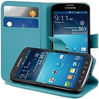 kwmobile Hülle für Samsung Galaxy S4 Active i9295 - Wallet Case Handy Schutzhülle Kunstleder - Handycover Klapphülle mit Kartenfach und Ständer Blau