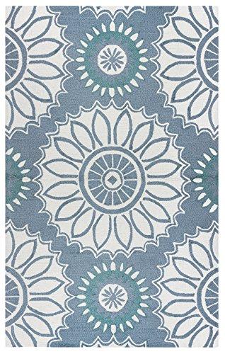 Rizzy Home azzura Hill Collection tufté Zone Tapis, 2'15,2cm X 8', gris/ivoire/vert sauge