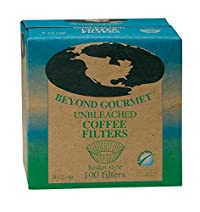 Beyond Gourmet Unbleached Coffee Filters, 100 Basket Style Filters