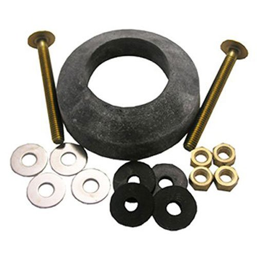 LASCO 04-3807 Toilet Tank to Bowl Bolt Kit with Brass Bolts, Rubber and Brass Washers, Hex and Wing Nuts, W-210 Recessed TXB Gasket by LASCO (Bowl Kit Gasket)