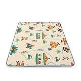 Baby Vivo Premium Spielteppich Circus | Krabbeldecke Kinderspielteppich Spielmatte Playmat Spieleteppich Erlebnisdecke Krabbelmatte Spieldecke | 1 cm dicker Kinderteppich XXL 200 x 150 cm