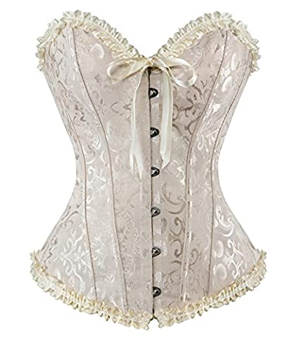 HLGO Sexy Corsets For Women For Sex Corset Bodysuit Corset Top With Sleeves Lace Corset Costumes for Women