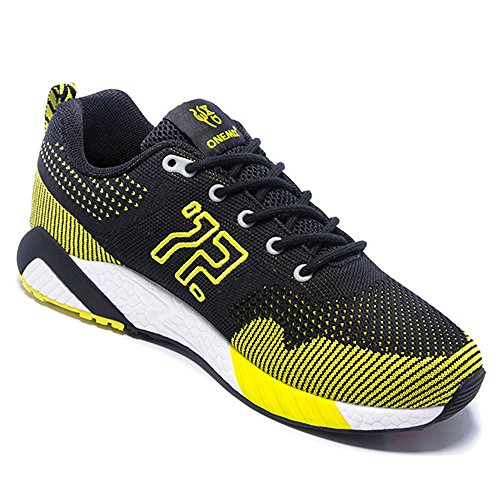 ONEMIX Atletica Degli Uomini Scarpe Da Corsa Delle Donne Sneakers Di Jogging Unisex Nero giallo