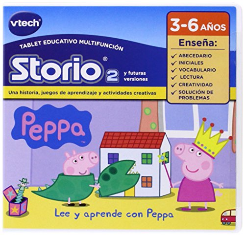 VTech - Juego para tablet educativo, Storio, Peppa Pig (3480-233422)
