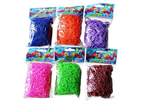 Loom Rainbow Bänder Nachfüllpack Set XXL Original alle Farben 3600 Stück inkl. 144 C-Clips