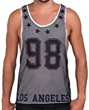 Red Bridge Herren Tank Top Los Angeles Netz Gym Freizeit Muskelshirt weiß S