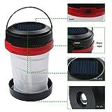 EBILUN 1PCS con energía Solar LED Linterna de Camping Luces, Linterna para la excursión al Aire Libre Carpa Jardín Cargador de Emergencia para el teléfono, a Prueba de Agua