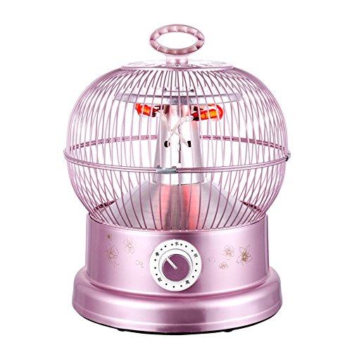 Radiateurs électriques YIXINY NSB-90B Cage D'oiseau Le Tube en Fibre De Carbone Chauffe 900W Golden, Or Rose (Couleur : Or Rose)