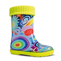 Demar Hawai Lux Exclusive children's lined wellies