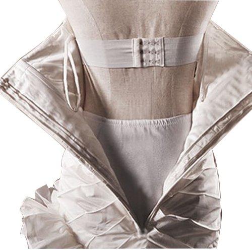 GEORGE BRIDE - Robe de plage halter en mousseline de cou en V avec sexy decoration sur le dos Blanc