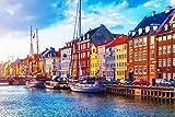 Kopenhagen City Art XXL Wandbild Kunstdruck Foto -Poster-