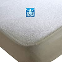 Waterproof Terry Towelling Mattress Protector, Fitted Sheet Double