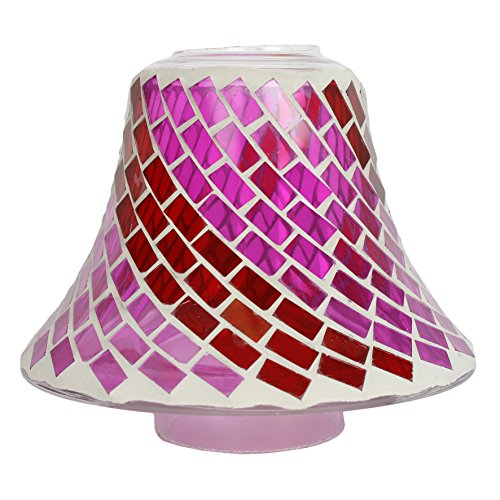 Aroma Accessories Mosaic Candle Jar Shade, Red, 16 cm