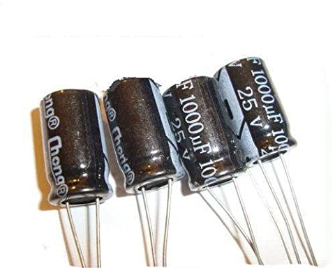 10 pcs 1000UF 25V electrolytic capacitor 10x17mm
