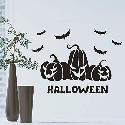 Liushop Happy Halloween Bat Wandaufkleber Fenster Hauptdekoration Aufkleber Dekor DIY Hauptdekorationen Scary Kürbis Schwarz Bat Wand Sticker45 * 30 cm