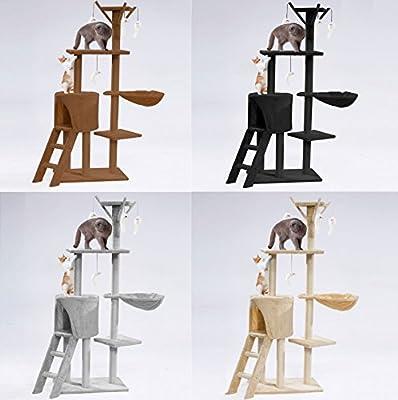 Cat Tree Activity Centre Scratching Climb Post Climbing ladder Jumping Sleeping Hammock Pet Kitten Play Toy Floor Stand