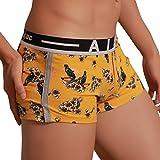 JUTOO sous-vêtements Sexy pour Hommes Lettre imprimée Boxer Shorts Shorts Bulge Pouch Slip