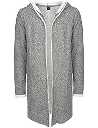 SUBLEVEL Herren Sweat-Cardigan mit Kapuze | Strickjacke | Long Cardigan aus hochwertiger Baumwolle
