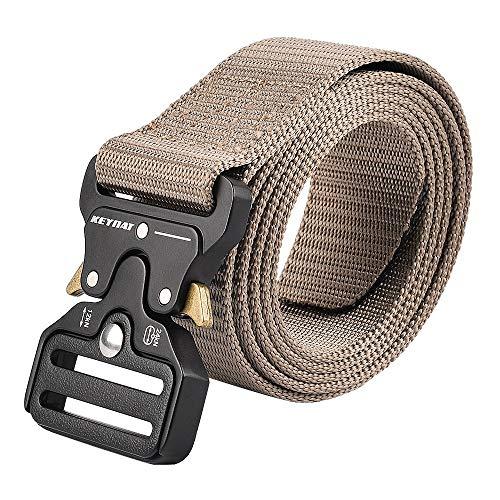 KEYNAT® Taktischer Gürtel Nylon mit Metall Gürtelschnalle Schnellverschluss  Herren Militär Gurtel Tactical Belt Quick Release Rigger Buckle