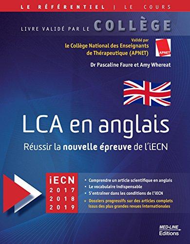 LCA en anglais : Russir la nouvelle preuve de l'iECN