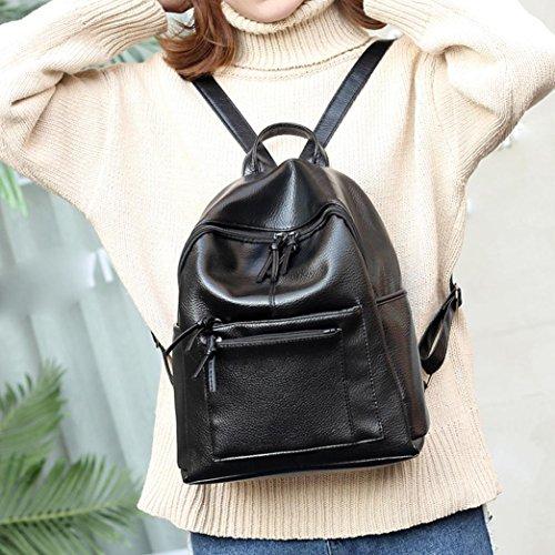 LILICAT Damen Travel Rucksack Mädchen Schultaschen Leisure Backpack Student School Bag Weiche Frauen Tasche Shopper Schwarz B