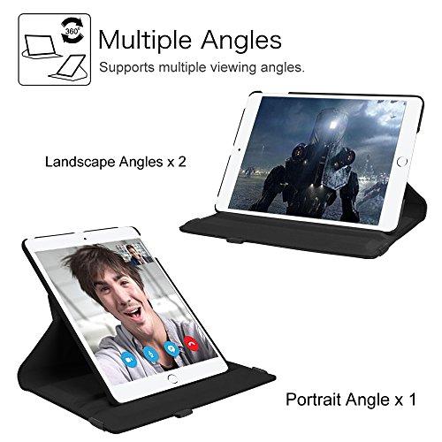 Fintie iPad 9.7 Zoll 2017 / iPad Air Hülle - 360 Grad Rotierend Stand Smart Cover Case Schutzhülle mit Auto Schlaf / Wach Funktion für Apple iPad 2017 Neue Modell / iPad Air 2013 Modell, Schwarz - 4