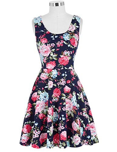 Kate Kasin Women Audrey Hepburn Vestito Retro Dress Vinatge Swing Vestito KK297-4